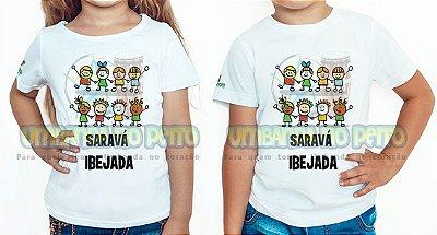 Camiseta Infantil Saravá Ibejada