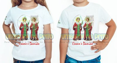 Camiseta Infantil São Cosme, São Damião
