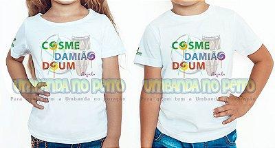 Camiseta Infantil Cosme, Damião, Doum
