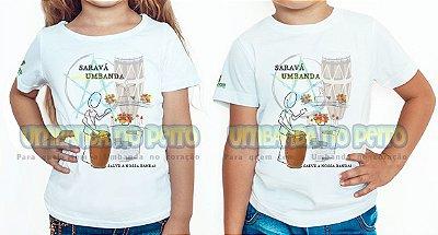 Camiseta Infantil Saravá Umbanda