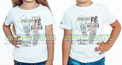Camiseta Infantil Ande com Fé