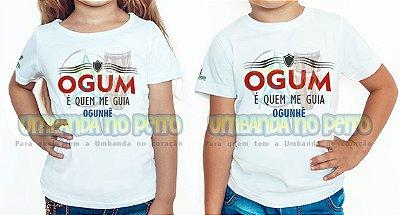 Camiseta Infantil Ogum é Quem Me Guia