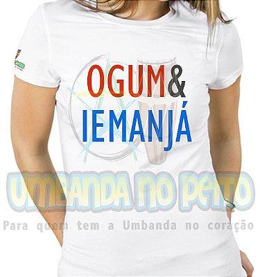 Baby Look Coleção Pai & Mãe: Ogum & Iemanjá
