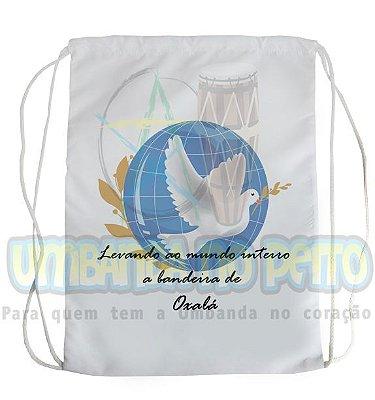Mochilinha para Guias / Colares / Fios de Contas - Bandeira de Oxalá