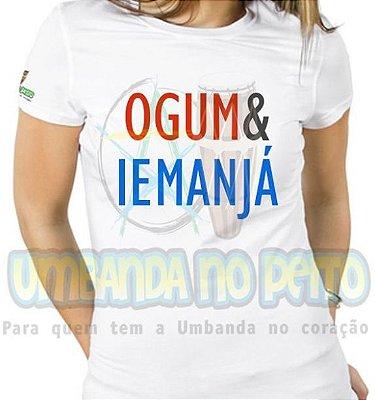 Baby Look Coleção Pai & Mãe: Ogum & Iemanjá (M)