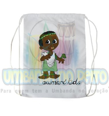 Mochilinha para Guias / Colares / Fios de Contas - Oxumaré Kids
