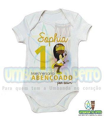 Body MesVersario Oxum Kids + Nome do Bebê
