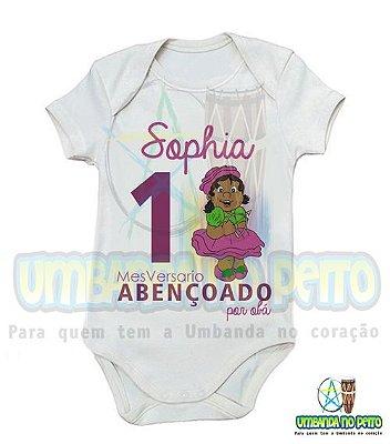 Body MesVersario Obá Kids + Nome do Bebê