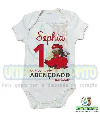 Body MesVersario Iansã Kids + Nome do Bebê