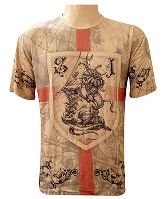 Camiseta São Jorge Brasão Viscose