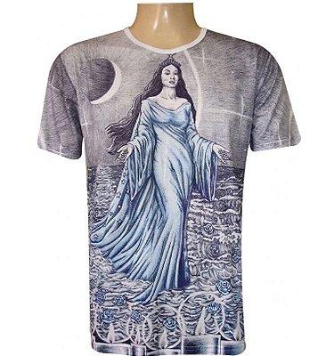 Camiseta Azul Iemanjá Viscose