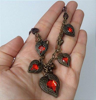 Colar Corações Cigano