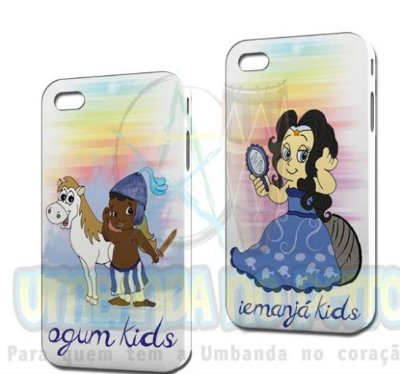 Case Ogum Kids + Case Iemanjá Kids (Iphone 4/4S)