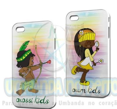 Dois Cases: 01 Oxossi e 01 Oxum (Iphone 4/4S)