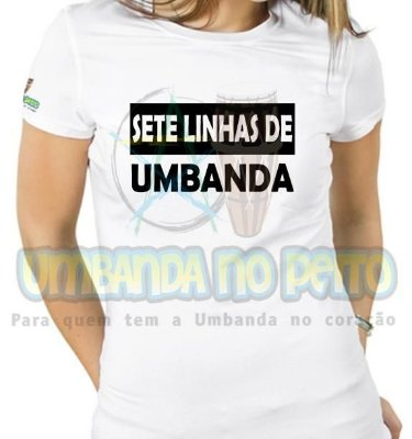 Baby Look Sete Linhas de Umbanda