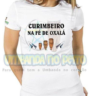 Baby Look Curimbeiro na Fé de Oxalá