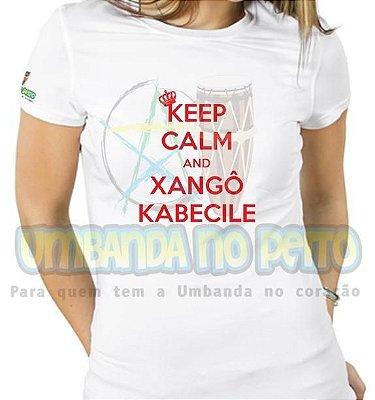 Baby Look Keep Calm and Xangô Kabecilê