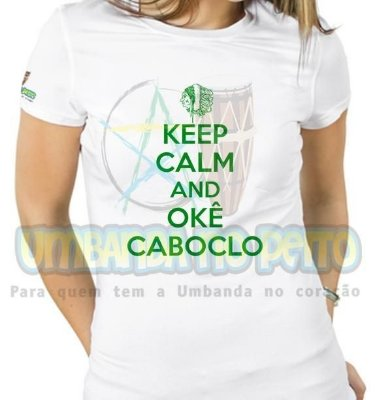Baby Look Keep Calm and Okê Caboclo