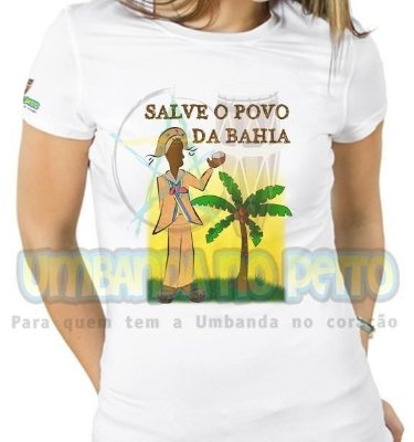 Baby Look Salve o Povo da Bahia