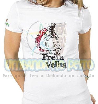 Baby Look Saravá Minha Preta-Velha