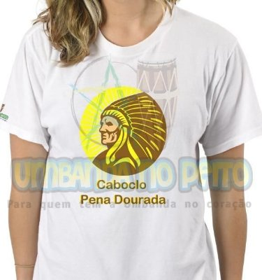 Camiseta Caboclo Pena Dourada