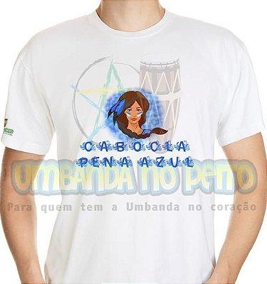 Camiseta Cabocla Pena Azul