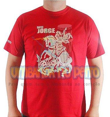 Camiseta Vermelha São Jorge (TAM P)