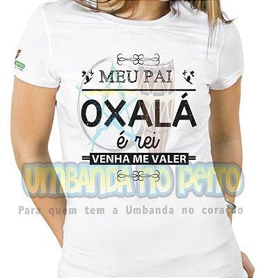 Baby Look Meu Pai Oxalá
