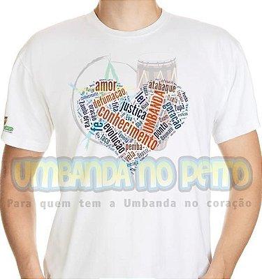 Camiseta Umbanda no Coração