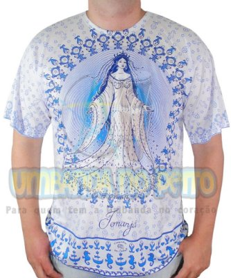 Camiseta Iemanjá Sereia Viscose