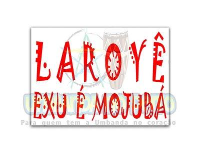 Adesivo Laroyê Exu Mojubá