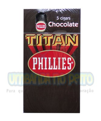 Charuto Phillies Titan Chocolate (caixa c/5)