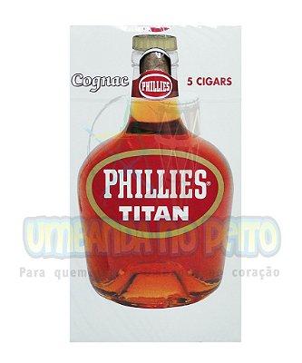 Charuto Phillies Titan Conhaque (caixa c/5)