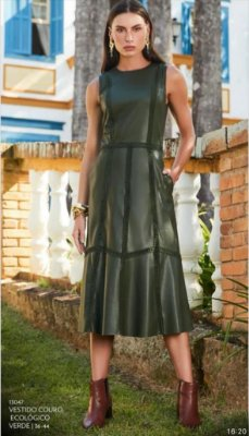 Vestido Couro Ecológico