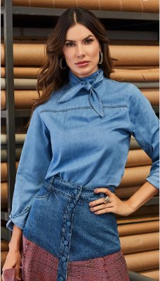 Blusa Jeans Detalhes