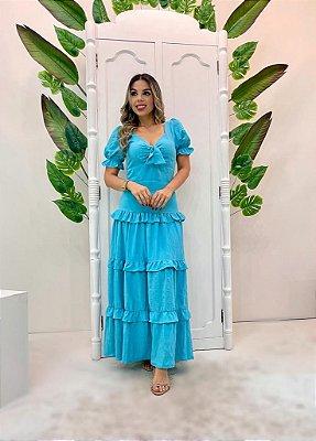 Vestido Crepe Seda