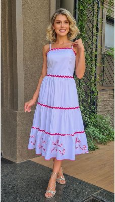 Vestido Tricoline Detalhes