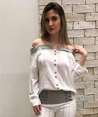 Blusa Visco Crepe Detalhes