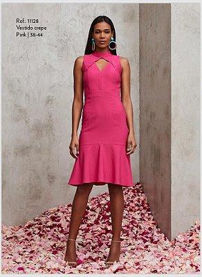 Vestido Crepe Pink