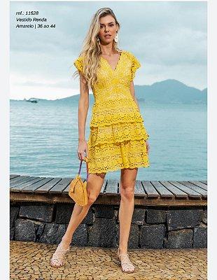 Vestido Renda Amarelo