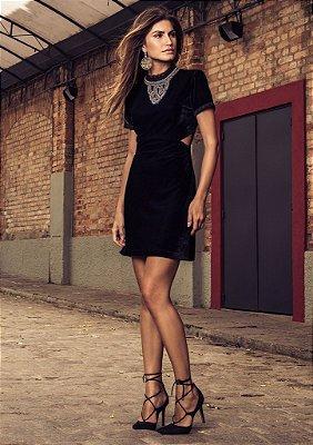 Vestido Samanta Veludo Raizz