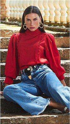 Blusa Crepe Vermelho