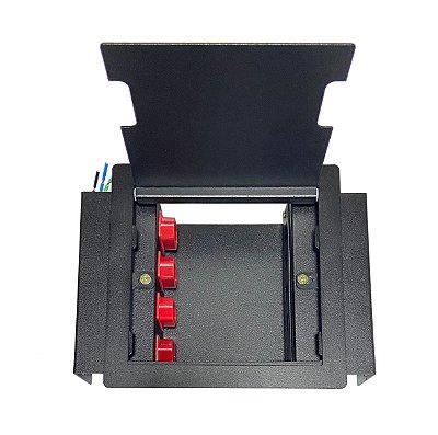 Caixa De Tomadas, Piso Elevado 4 Eletricas E 4 Posições Para Keystone P44-M1