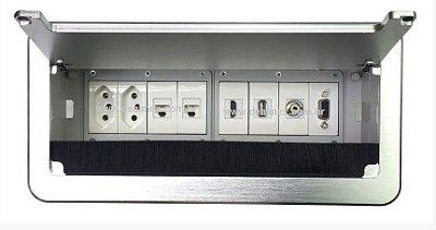 Caixa Painel Com Multi Conexões Para Mesa De Reunião