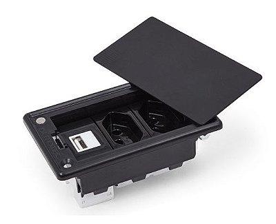 Caixa Tomada Simples + Carregador USB 5V - 2.1A  - QMF3-M10
