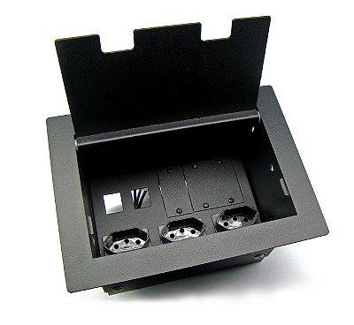 Caixa Painel De Tomadas Para Mesas De Reuniões - DMEX02M