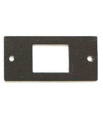 Espelho Metálico Para Encaixe De Keystone RJ11, RJ45, HDMI, USB