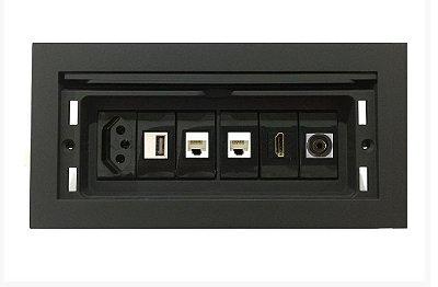 Caixa Tomada Com Multi Conexões Para Mesas - QMF6-M9