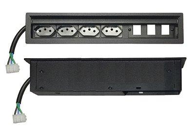 Caixa De Tomada Para Embutir Em Mesas - SLIM-304B