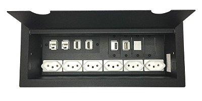 Caixa De Mesa Com Multi Conexões Completa - DMEX14-M3